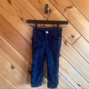 Baby Gap Navy Blue Star Corduroy Pull On Pants 2t